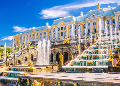 BRILLIANT PETERHOF  (THE GRAND PALACE AND PARK)